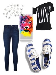 """""""Hear Me Roar"""" by bhappygirlz ❤ liked on Polyvore featuring Keds, Frame Denim and Casetify"""