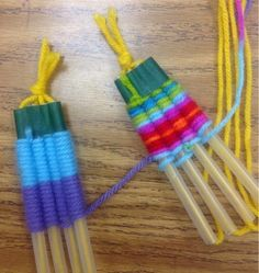 Mrs. Knight's Smartest Artists: 4th grade Straw Weaving