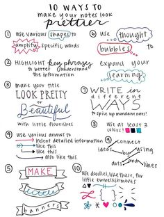 Make your notes more visually appealing with these tips! Who knows, it might even motivate you to study them more!