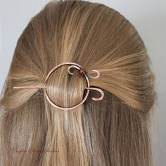 Copper Circle Hair Clip Pearl Hair Barrette от CopperStreetStudios