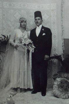 Copyright (2007) Fayez (Frank) Nasser / Toronto, Canada. Bethlehem 1930 - Wedding of Yusef Saleh Hasbun & Margo Abu-Sa'adeh.
