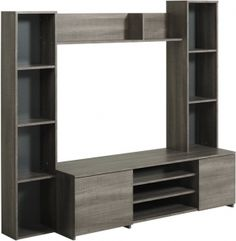 Parisot Link TV unit with shelving and storage cupboards Office Store, Tv Rack, Entertainment Furniture, Cupboard Storage, Shelving, Bookcase, Home Decor, Cupboards, Divider
