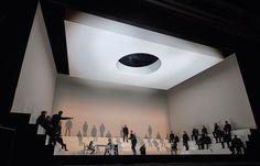 "Daniel Bjarnasons opera ""Brothers"" directed by Kasper Holten, set and costume design by Steffen Aarfing, lighting design by Ellen Ruge, video design by Signe Krogh. Aarhus2017"