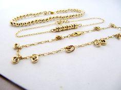A wonderful set of 3 different gold filled bracelets.  . Gold bracelets, Bracelet set, Layered bracelets, Gold beaded bracelets, Gold boho bracelets, Gold bracelet set, Dainty gold bracelet #bracelet #braceletstacks #braceletset #bohochic #bohojewelry