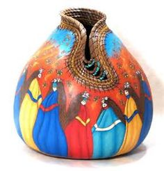 Southwest & Native American Indian Inspired Fine Art Gourds