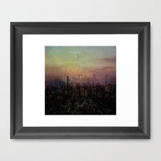 City #1 Framed Art Print by Michael Waring - $34.00