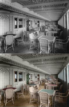 titanic in color sitting area