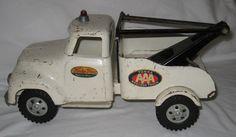 "Ltd Toy Stamp & Vintage 1950s Tonka Toys Wrecker AAA Truck All Original 12"" AH47"