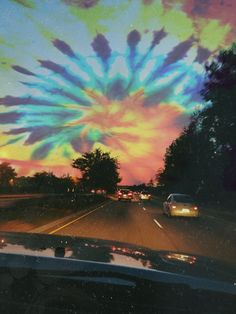 Tie dye sky. acid / photography / colorful / third eye / trippy / tumblr…