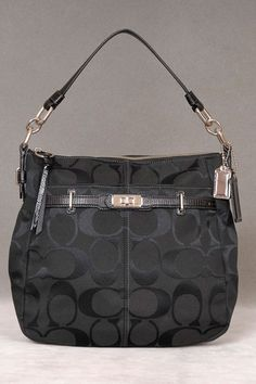 Coach Chelsea Signature Ashlyn Hobo In Black