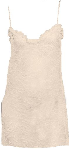 Saint Laurent Nude Glittery Lace Slip Dress
