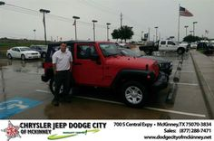 Congratulations to Muchael Strauss on your #Jeep #Wrangler purchase from Brent Briggs at Dodge City of McKinney! #NewCar