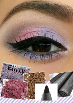 Younique Mineral Pigment Powders in Flirty, Sassy and Irresistable, Percision Pencil Eyeliner in Perfect. 3D Fiber Lash Mascara ➕ To recreate this look!! Nice and soft!