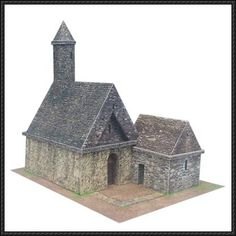 St. Kevin's Church at Glendalough Free Building Paper Model Download