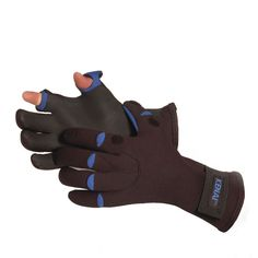 Cover: Glacier Glove - Bristol Bay Glove.   Made from 2mm thick fleece-lined neoprene. Slits on thumb and index finger, as well as Touchrite Technology for added grip and dexterity.