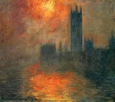 Claude Monet. Houses of Parliament, Sunset (1904).