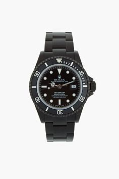 Black Limited Edition Matte Black Limited Edition Rolex Sea Dweller Watch for men | SSENSE