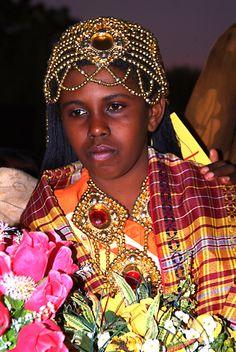 Sudanese boy in celebratory attire