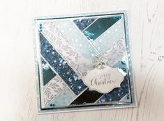 Looking for something a bit different for your handmade Christmas Cards this year? Check out our Blue Patchwork Christmas Card Tutorial today. Unique Christmas Cards, Christmas Sentiments, Homemade Christmas Cards, Xmas Cards, Handmade Christmas, Christmas Tea, Holiday Cards, Chloes Creative Cards, Patchwork Cards
