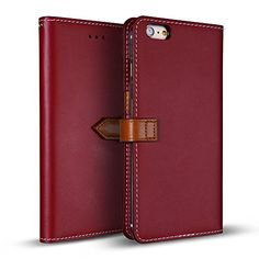 """iPhone 6s Plus Case / iPhone 6 Plus Case (5.5""""), DesignSkin WETHERBY PREMIUM BASIC SNAP - Handcrafted Genuine Leather Folio Flip Cover ID Card Slot Banknote Storage Smartphone Wallet Case (Red) Wetherby http://www.amazon.com/dp/B00PGJA9PQ/ref=cm_sw_r_pi_dp_2N8Kwb1DWQXS6"""