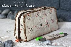 Tutorial: Wide-Open Zipper Pencil Case | Sewing | CraftGossip.com