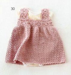 Robes pour fillettes de 12 à 24 mois et leurs grilles gratuites !