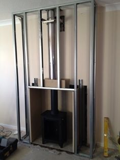Building a fake chimney breast. I love this, but need to check codes for clearance requirements.