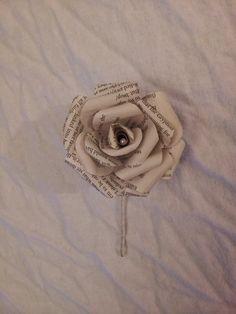 Book Boutonniere's paper rose button hole for por HelmoreBoutique