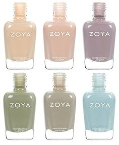 In love with these colors!!  Zoya Whispers Spring 2016 Nail Polish Collection 3