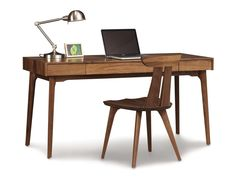 Copeland Furniture : Natural Hardwood Furniture from Vermont : catalina desk with keyboard tray - desks - home office Desk With Keyboard Tray, Wood Computer Desk, Hardwood Furniture, Furniture Sale, Furniture Design, Danish Furniture, Computers For Sale, Contemporary Desk, Best Desk