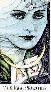 The High Priestess of The Cosmic Tarot - she sees the spirit behind the physical