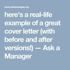 HereS An Example Of A Great Cover Letter  Ask A Manager  Job