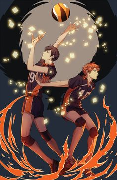 Kageyama and Hinata | Haikyuu!! || http://camaryllis.tumblr.com/post/86169262419/haikyuu-print-for-fanime [please do not remove this caption with the source]