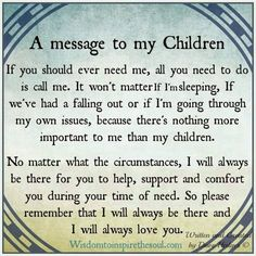 A Message To My Children