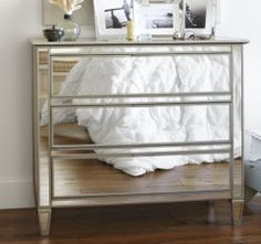 DIY Mirrored Dresser | The Tamara Blog...