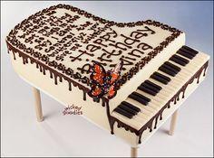 How to make a piano cake