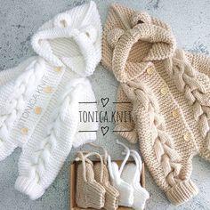 Cardigans Crochet, Crochet Cardigan, Knitted Baby Clothes, Knitted Romper, Baby Vest, Baby Cardigan, Baby Knitting Patterns, Knitting Designs, Onesie Pattern