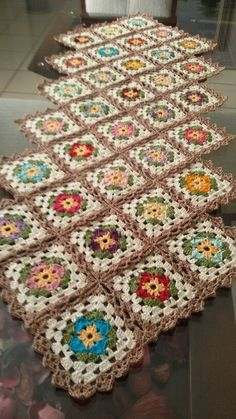 Table centerpiece crochet doily french decor - housewarming crochet rose gift for wife - rose table decoration crochet anniversary runner Granny Square Crochet Pattern, Crochet Flower Patterns, Afghan Crochet Patterns, Crochet Squares, Crochet Motif, Crochet Designs, Crochet Yarn, Crochet Flowers, Crochet Stitches
