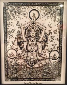 Goddess chakras aligned in bliss