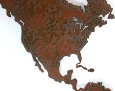 World Map Metal wall art  50 wide X 30 tall  5