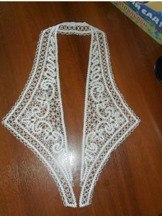 Collar - Vologda bobbin lace technique