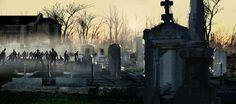 zombies walking dead graveyard cemetery cemetary