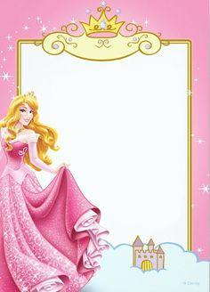 Disney Princess Birthday Invitations Printable Free Borders And