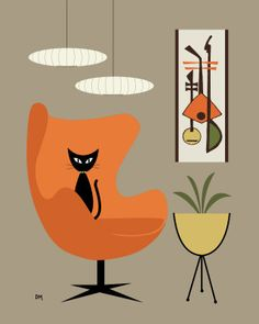 It may be mid century modern but I'd hang this on my wall today!