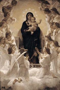 Vintage Madonna and infant Jesus