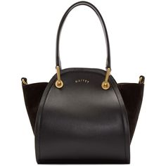 Maiyet - Black Leather & Suede Mini Peyton Tote