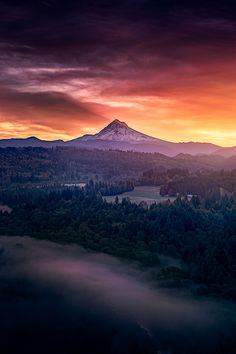 Sunrise from Jonsrud viewpoint in Sandy Oregon [OC] [8001200] #reddit