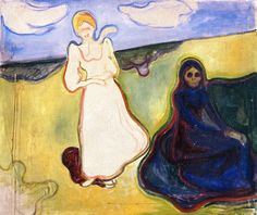 Two Women in a Landscape - Edvard Munch