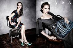 Campañas publicitarias moda otoño invierno 2013 2014 - Christy Turlington - Amanda Murphy - Prada - Steven Meisel