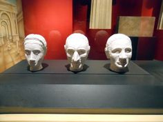 Pompeii - these are facial reconstructions made from the skulls found at the house of Marcus Julius Polybius